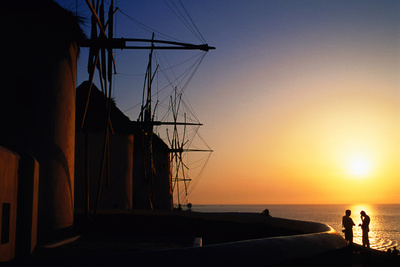 Windmills at Sunset. Photographic Print by Paolo Cordelli