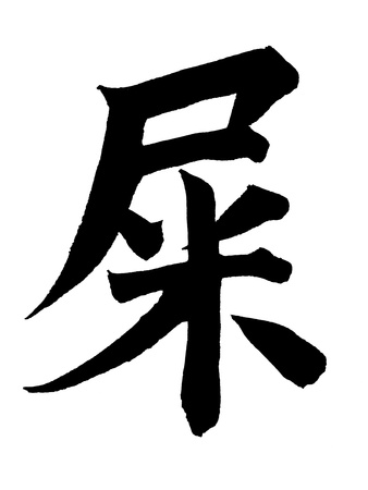 Chinese Calligraphy - Shit Photographic Print by  blackred