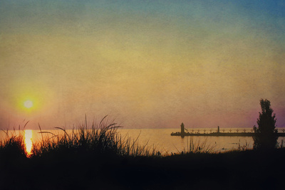 Pier at Sunset Photographic Print by Kelly Sillaste