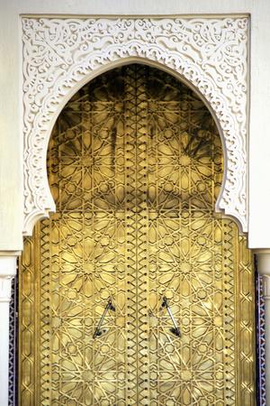 Golden Door and an Arch Way, Casablanca, Morocco Photographic Print by Hisham Ibrahim