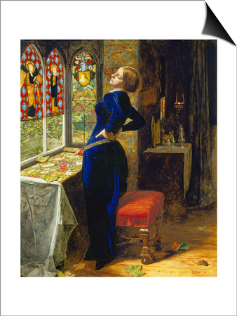Mariana in the Moated Grange, 1851 Poster by John Everett Millais
