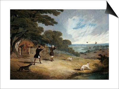 Partridge Shooting at Six Mile Bottom, 1833 Prints by John Frederick Herring I