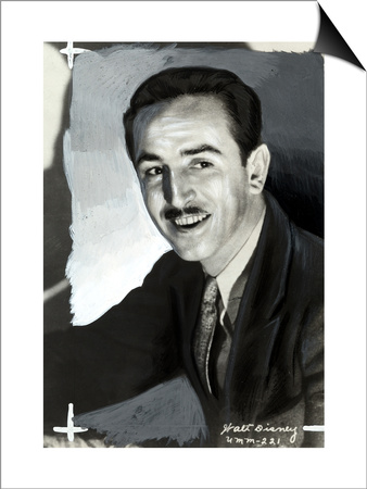 Portrait of the Animated Cartoon Artist and Producer Walt Disney Posters