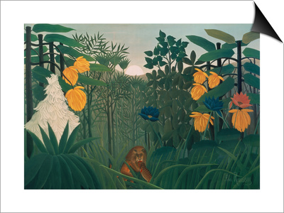 The Repast of the Lion, about 1907 Poster by Henri Rousseau