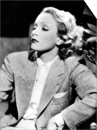 Half-Length Portrait of the Celebrted German Movie Actress Marlene Dietrich Posters