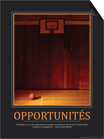 Opportunites (French Translation) Prints