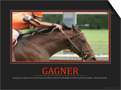 Gagner (French Translation) Posters