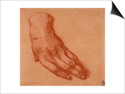 Study of a Left Hand Prints by  Leonardo da Vinci