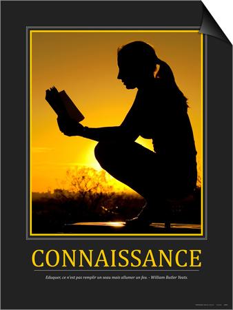 Connaissance (French Translation) Prints