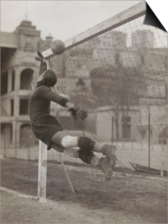 Goalie of the Genova Soccer Team During a Play Prints