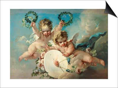 Cupid's Target Prints by Francois Boucher