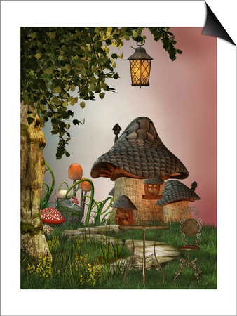 Mushroom House Prints by  justdd