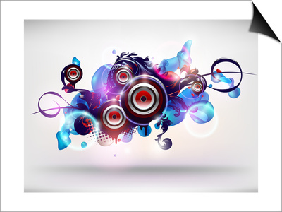 Abstract Loudspeakers Posters by  theromb