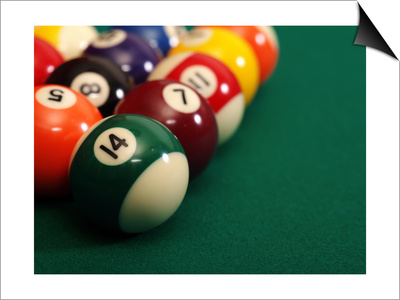 Billiard Balls Print by  sumnersgraphicsinc
