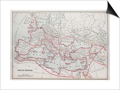 Roman Empire Map Print by  pancaketom