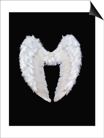 White Angel Wings Prints by  Black_blood