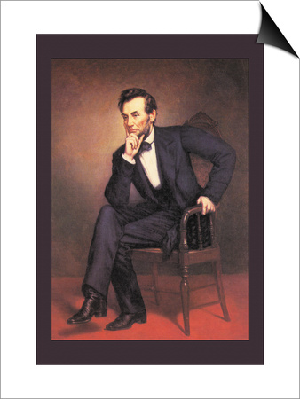 Abraham Lincoln Prints by George Peter Alexander Healy