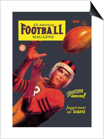 All-American Football Magazine Prints