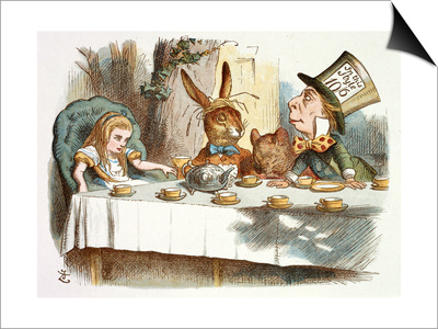 The Mad Hatter's Tea Party Art by John Teniel!