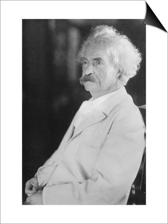 Portrait of Mark Twain Prints