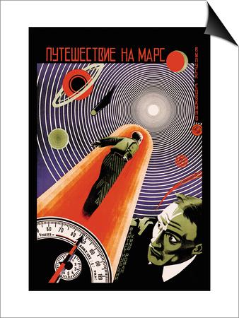 Journey to Mars Prints by  Borisov