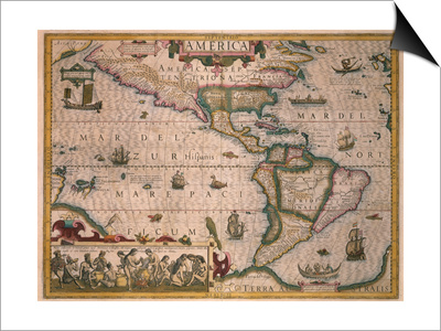 Map of America Prints by Gerardus Mercator