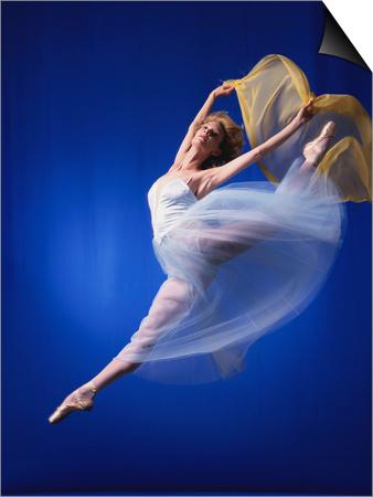 Ballerina Dancing Prints by Dennis Degnan