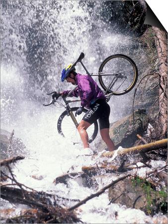 Mountain Biking, Vail, Colorado, USA Print by Lee Kopfler