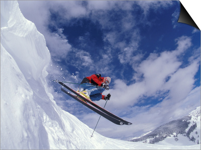 Skiing in Vail, Colorado, USA Prints by Lee Kopfler