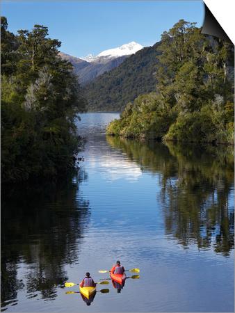 Kayaks, Moeraki River by Lake Moeraki, West Coast, South Island, New Zealand Prints by David Wall