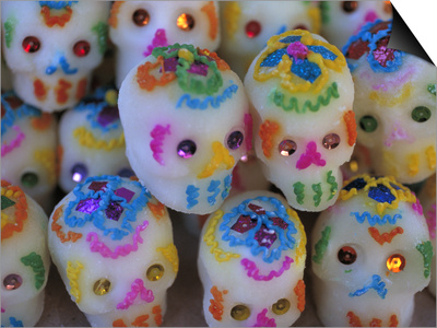 Sugar Skulls are Exchanged Between Friends for Day of the Dead Festivities, Oaxaca, Mexico Posters by Judith Haden