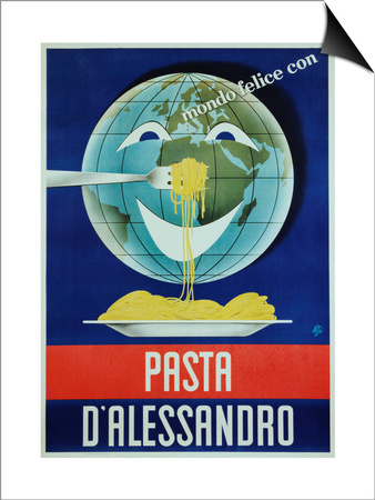 Pasta D'Alessandro Poster Posters by Paolo Garretto