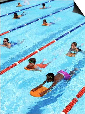 Children Learning to Swim Posters by Bill Bachmann