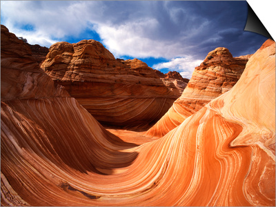 The Wave Formation in Coyote Buttes, Paria Canyon, Arizona, USA Prints by Adam Jones