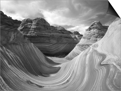 The Wave Formation in Coyote Buttes, Paria Canyon, Arizona, USA Posters by Adam Jones