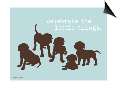 Celebrate Little Things Posters by  Dog is Good!