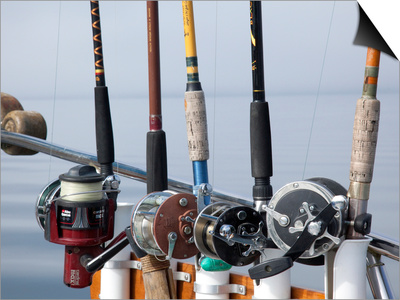 Fishing Poles, Alaska, Usa Posters by Savanah Stewart