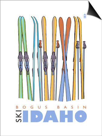 Bogus Basin, Idaho, Skis in the Snow Art by  Lantern Press