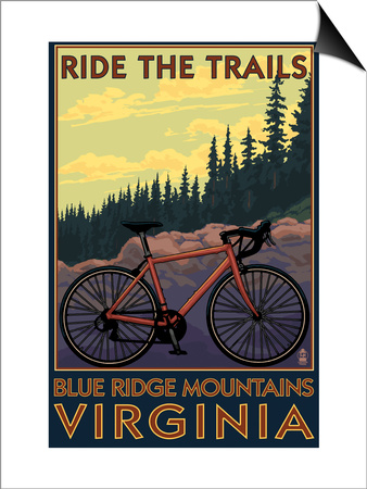 Blue Ridge Mountains, Virginia - Ride the Trails Prints by  Lantern Press