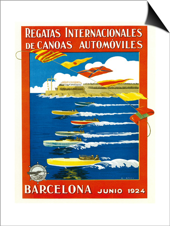 Regatta Internacionales De Canoas Promotion Poster by  Lantern Press