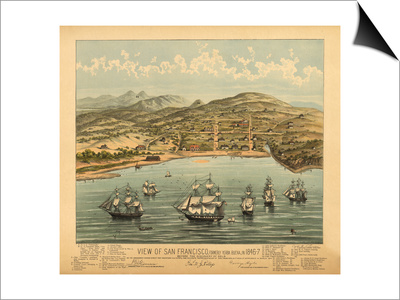 San Francisco, California - Panoramic Map No. 1 Posters by  Lantern Press