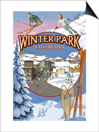 Winter Park, Colorado Montage Posters by  Lantern Press