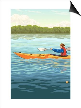 Kayak Prints by  Lantern Press