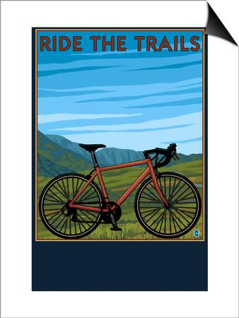 Bicycle - Plains Prints by  Lantern Press
