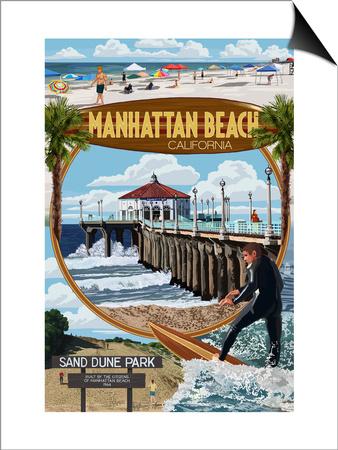 Manhattan Beach, California - Montage Scenes Posters by  Lantern Press