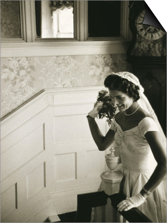 Jackie Kennedy Throwing the Bouquet Print by Toni Frissell