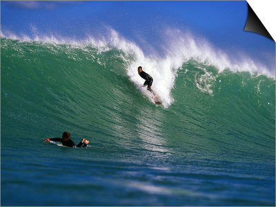 Surfer at Waikanae Beach, Poverty Bay, Gisborne, New Zealand Print by Paul Kennedy