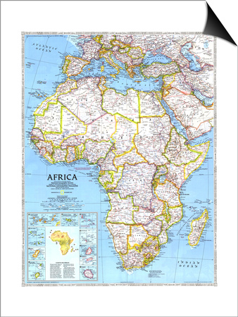 1990 Africa Map Print by  National Geographic Maps