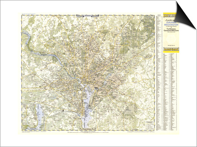1948 Suburban Washington DC, Maryland & Virginia Map Posters by  National Geographic Maps
