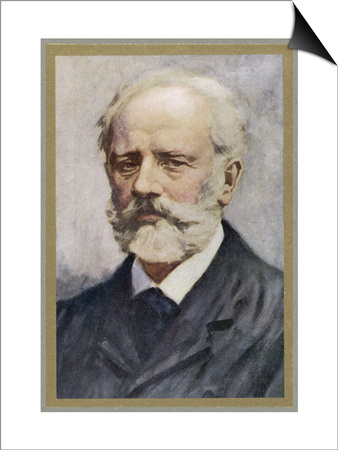Pyotr Ilich Tchaikovsky, Russian Composer Prints by Ik Skelton